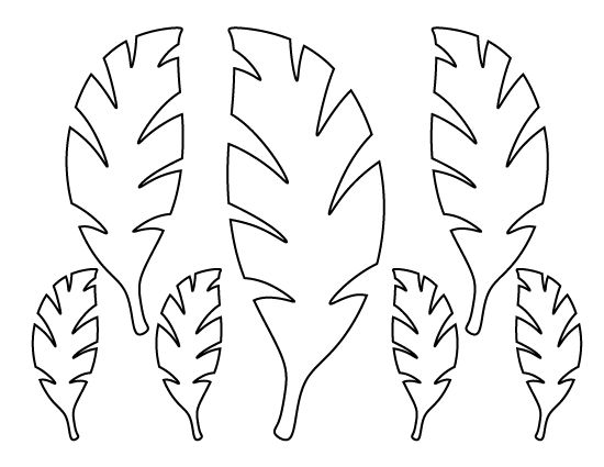 Palm leaf pattern use the printable outline for crafts for Printable coconut tree template