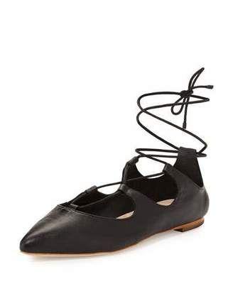 Loeffler Randall Ambra Lace-Up Ballerina Flat on ShopStyle