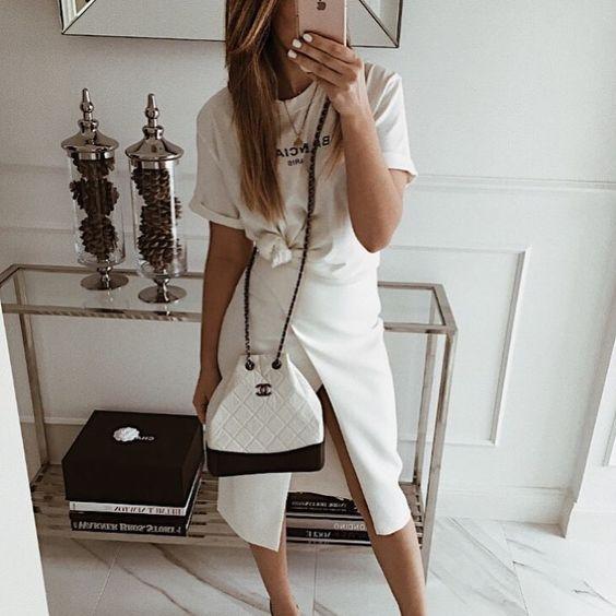 "Mint Label (@mint_label_) ""get it white - skirt RENNES #moda #style #look #fashion #inspiration #instagram"""