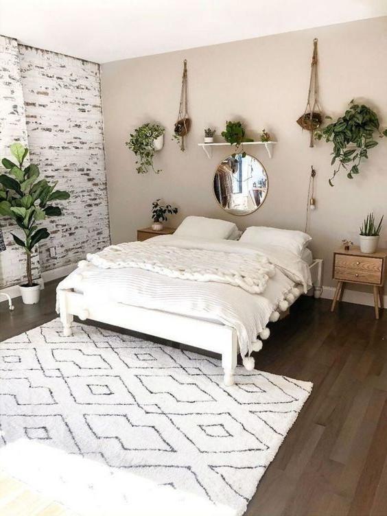 Modern Bed Frames Ideas Cozy Bohemian Scandinavian Famrhouse Style Beds In 2020 Cheap Bedroom Makeover Simple Bedroom Simple Bedroom Decor
