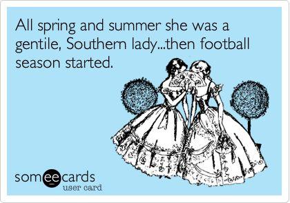 Football season, y'all!