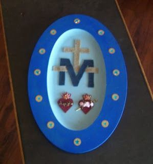 Under Her Starry Mantle: Miraculous Medal Craft Activity Part 1
