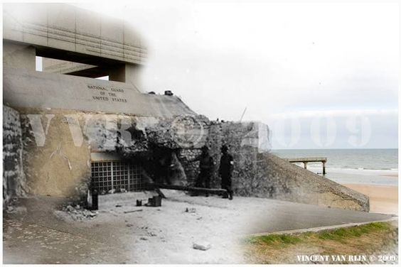 d day normandy then and now
