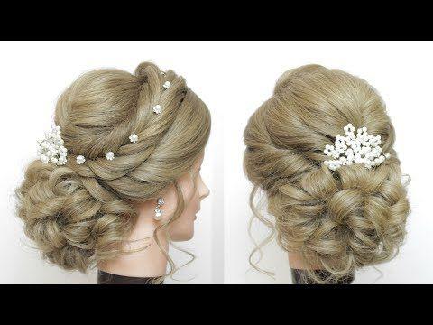 Romantic Wedding Updo Bridal Hairstyles Tutorial Youtube Wedding Hairstyles Tutorial Long Hair Tutorial Hair Tutorial