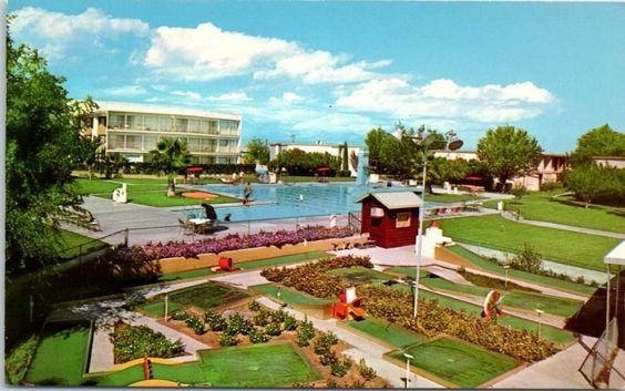 Las Vegas Nevada Hacienda Hotel Pool Mini Golf View C1960s