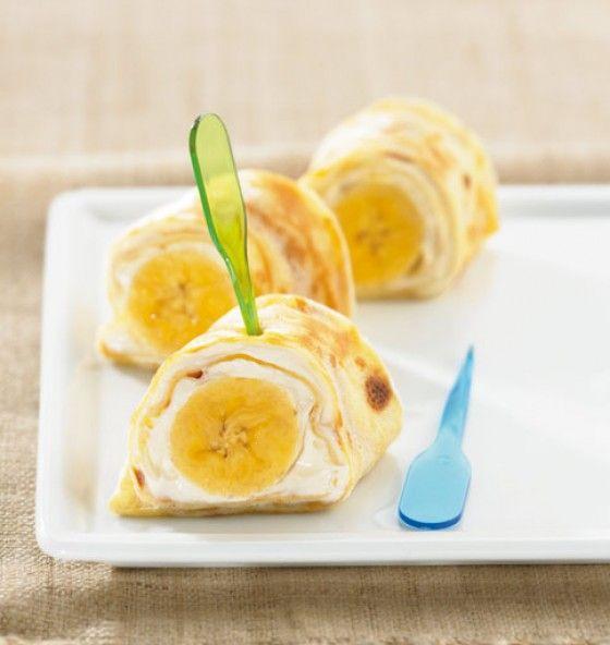 Mit einem Happs sind die im Mund und machen uns satt und glücklich! Um die süßen Bananen schmiegt sich eine leckere Quark-Pudding-Creme und frischgebackene Pfannkuchen – ein absoluter Frühstückshit!