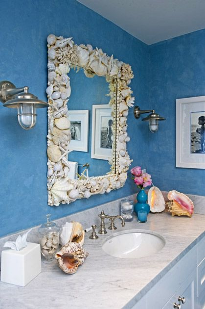 shell bathroom mirror the decor i would to this mirror 14394