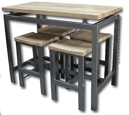 Ps and tables on pinterest - Table de cuisine 4 chaises ...