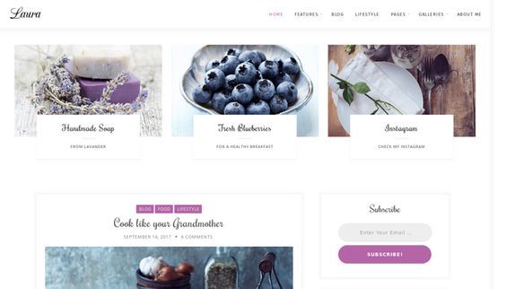 Download Laura Lite free WordPress Theme Reviewed | JustFreeThemes.com