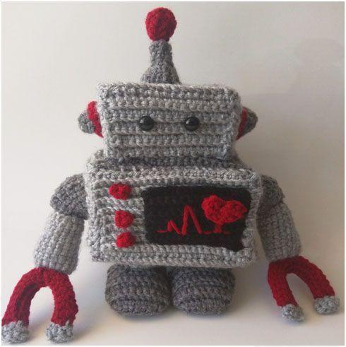 Free Amigurumi Robot Pattern : Crochet Robot Plush - Free Pattern Free pattern, Plush ...