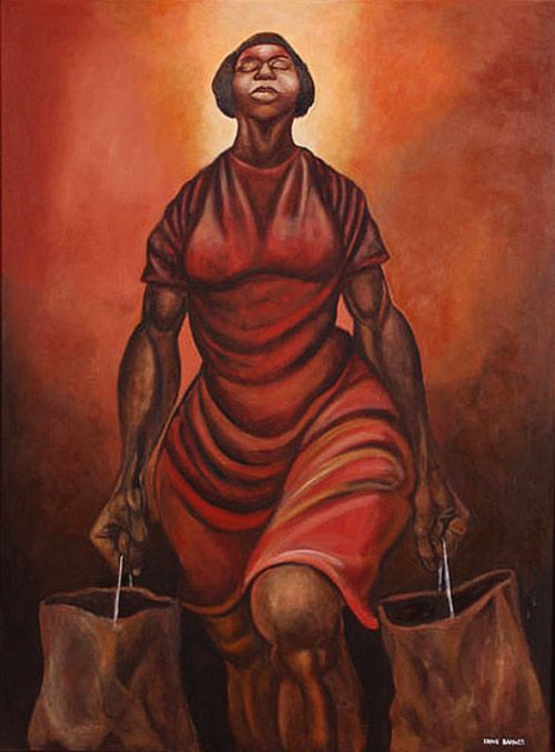 My Miss America by Ernie Barnes: