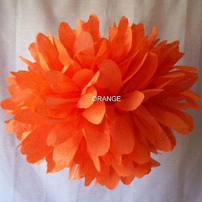 Orange Tissue Paper Pom-Poms