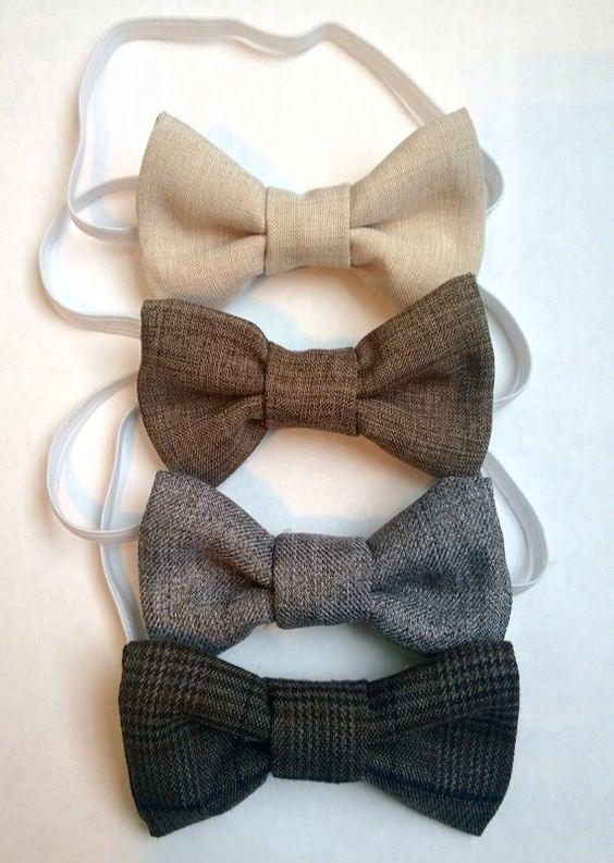 How great are these bow ties? Even boys can accessorize! These little bow ties can dress up and add just the right amount of class to that
