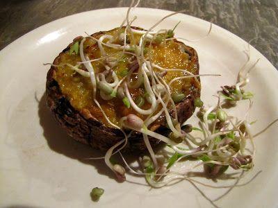 Tasty Tuesday - Stuffed Organic Portobello Mushrooms with Mung Bean Sprouts