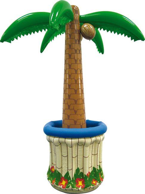 Eine Palme in der aufblasbaren Variante! Nicht nur, dass sie 180cm groß, dabei aber wesentlich günstiger in der Anschaffung und einiges pflegeleichter ist - sie ist noch etwas cooler: Denn ihr 'Topf' ist ein Getränkekühler!