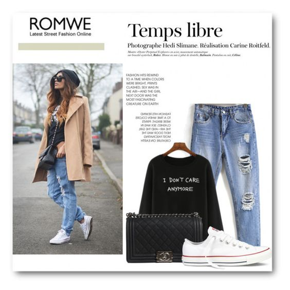 """""""Untitled #198"""" by missbijou ❤ liked on Polyvore featuring Converse, Hedi Slimane, Chanel, women's clothing, women's fashion, women, female, woman, misses and juniors"""