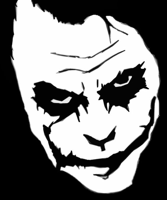 Harley Quinn And Joker Black And White Stencil Pictures To