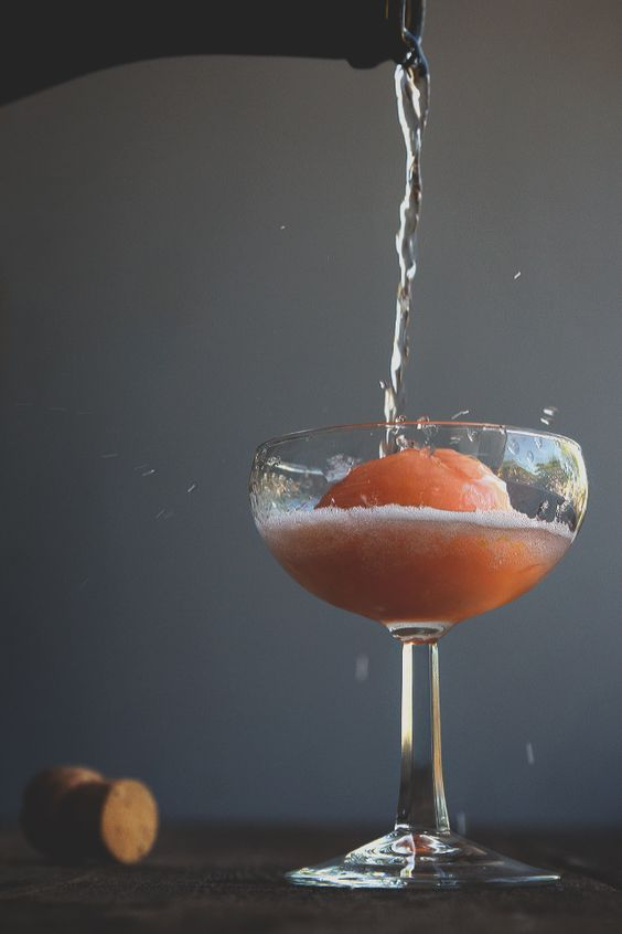 Aperol Spritz Float | Sorbet, Holiday parties and In Time
