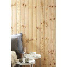 Lambris bois pin raboté noueux, L 200 x l 10cm, ép.10mm