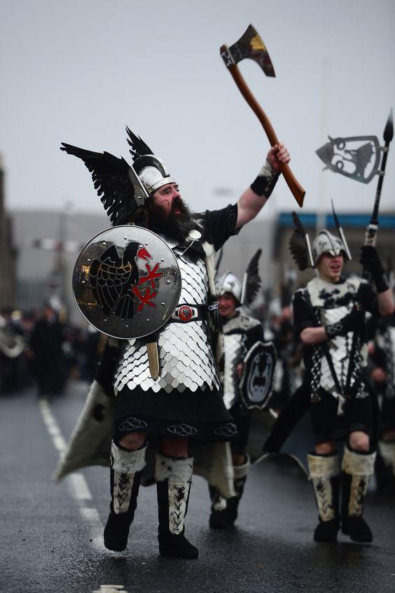 "PROUD VIKING WARRIORS. | Shetland's ""Up Helly Aa"" Fire Festival Looks Like The Best Festival On Earth"