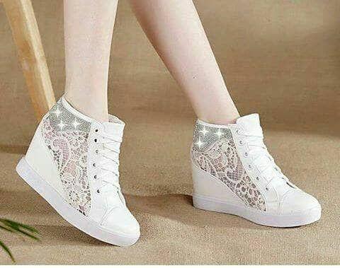 Sepatu Boot Jala Samping Putih Sepatu Boots Sepatu Sepatu Lari