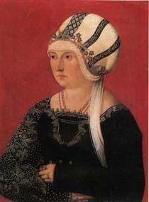 Barbara Wespach-Ungelte, by the Ulm Master. c. 1500. Stuttgart.