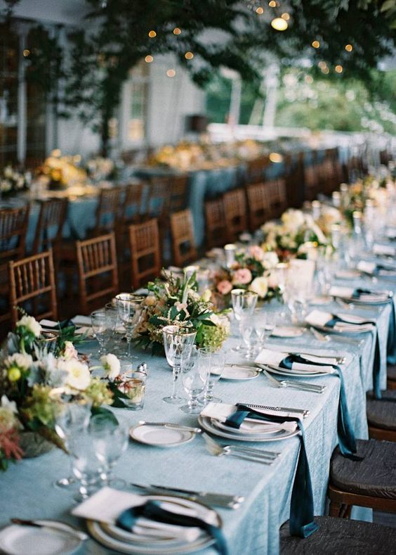 Tabletop Décor with Teal and Gold - The Clifton Inn. Designed by Easton Events - Destination Wedding Planners with offices in Charleston, SC and Charlottesville, VA photo by Tec Petaja