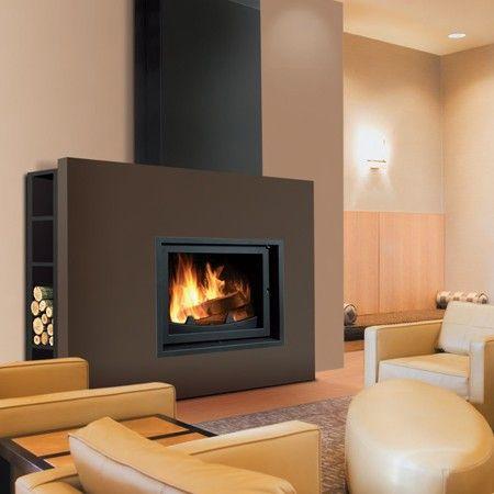 cheminee #poele #feu Cheminée Pinterest Design - exemple de maison moderne