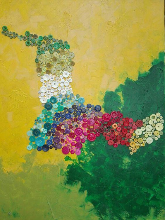 Knöpfe abstrakt selbst gemacht!! Pinterest Abstrakte - fliesenspiegel küche überkleben