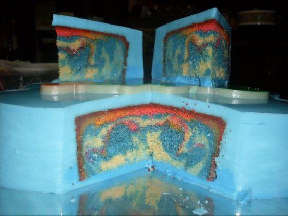 Torta rellena de gelatina