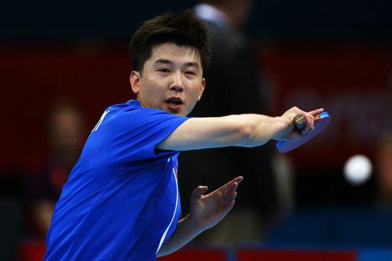 Day 1:  Table Tennis - Men's Singles - Hyok Bong Kim of Korea