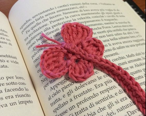 Crochet butterfly bookmark pattern pdf butterfly by Handmadeisfun