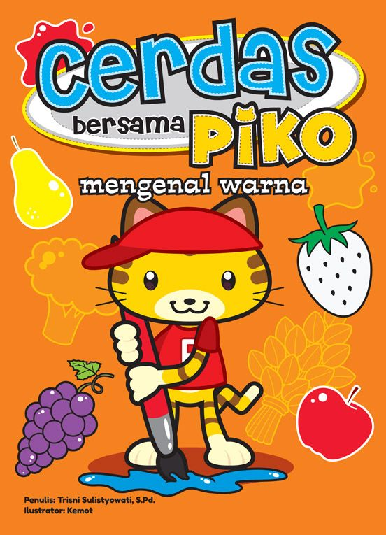 Buku mari mengenal warna bersama Piko disusun untuk memperkenalkan warna kepada anak. Agar belajar mengenal warna makain menyenagkan, buku ini dilengkapi dengan beragam aktivitas. Seperti, memasangkan gambar dan mewarnai.  Informasi Buku Judul : Cerdas Bersama Piko Mengenal Warna Harga : Rp 15.000 ISBN : 978-602-7690-76-9 Penulis : Trisni Sulistyowati, S.Pd