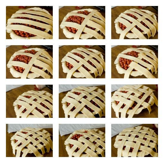 How to Make a Lattice Top by Brown Eyed Baker