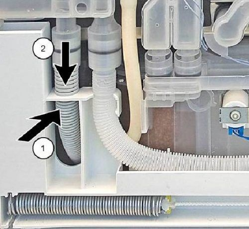 Replacing Drainage Hose In The Dishwasher Bosch Bosch Dishwashers Dishwasher Bosch