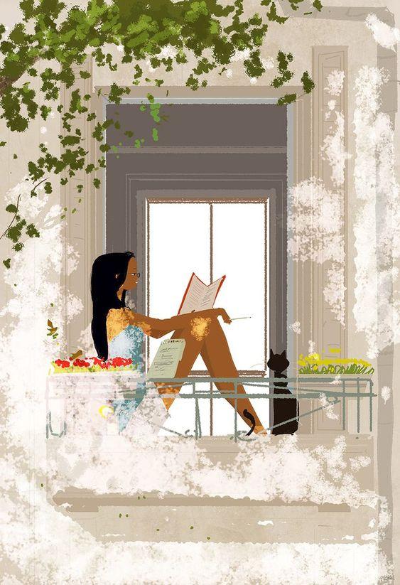 "Pascal Campion Esta imagen trajo a mi memoria ""Un árbol crece en Brooklyn"", de Betty Smith"