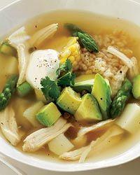 sopa de pollo (ajiaco )