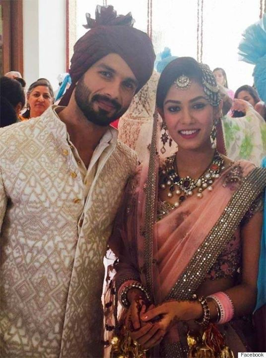 Shahid Kapoor and His Wife.