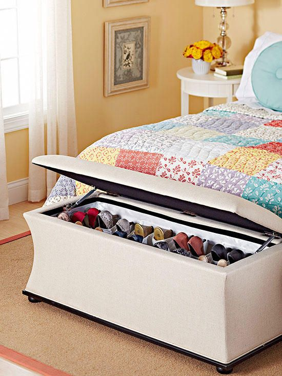 Super Our Simplest Shoe Organizing Tricks Shoe Storage Ottoman Ocoug Best Dining Table And Chair Ideas Images Ocougorg