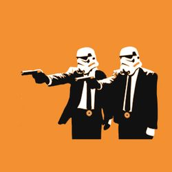 Pulp fiction banksy alternative art samuel l jackson john travolta  1920x1200 wallpaper