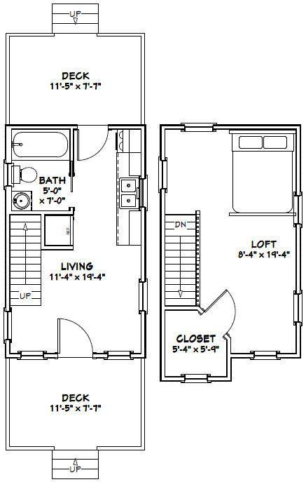 12x20 Tiny Houses Pdf Floor Plans 452 Sq Ft 464 Sq Ft Tiny House Floor Plans Tiny House Plans Floor Plans