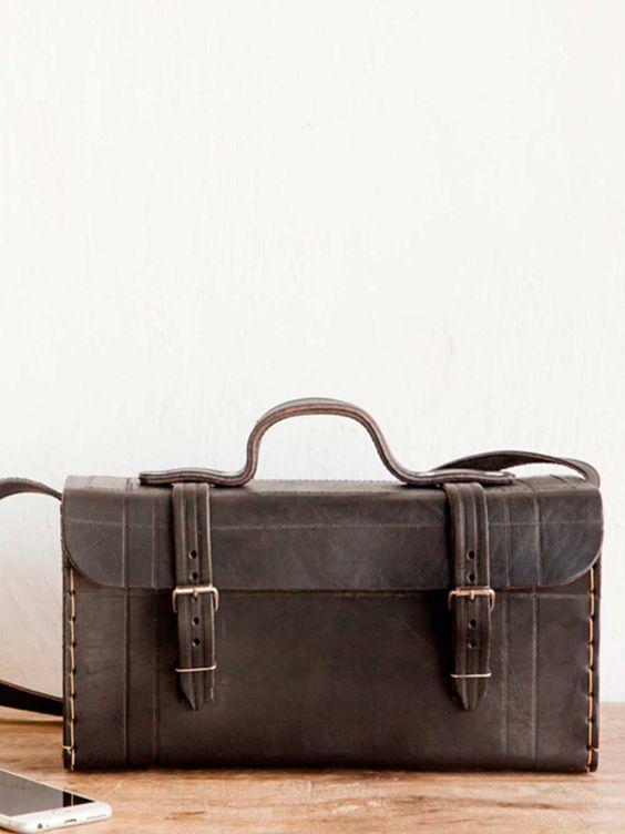 bolsa clássica couro preto