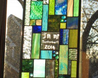 Panneaux de vitrail par stanfordglassshop sur Etsy