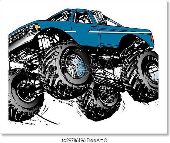 Freeart Fa29786196 Monster Trucks Monster Truck Art Truck Art