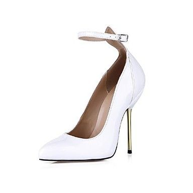 Patent Leather Women's  Stiletto Heel  Pointed Toe Pumps/Heels with Buckle   – USD $ 47.99