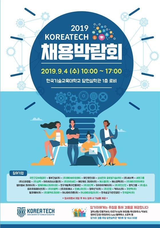'2019년 코리아텍 채용박람회' 9월4 개최