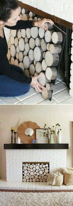 Fixer Upper farmhouse DIY fireplace
