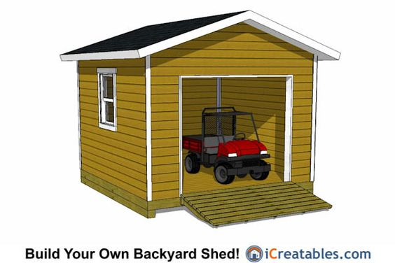 12x12 Shed plans with garage door!