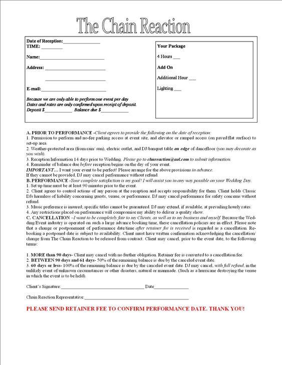 Contract for Entertainment | Central Florida DJ & Entertainment ...