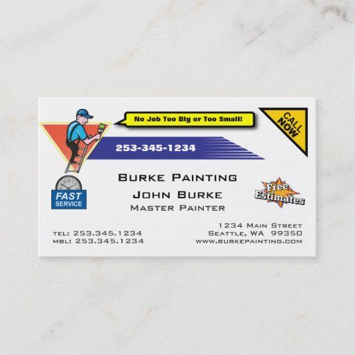 Pin On Painter Business Cards